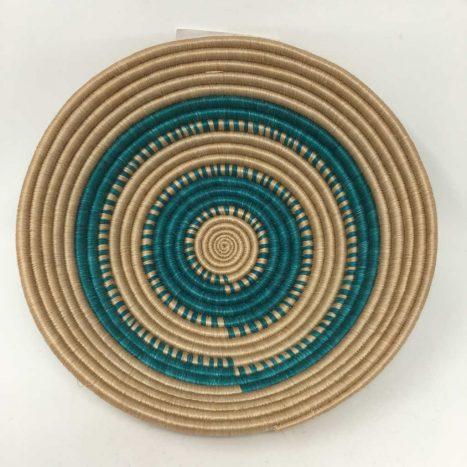 Rwandan Baskets – Bowl Turquoise Sand