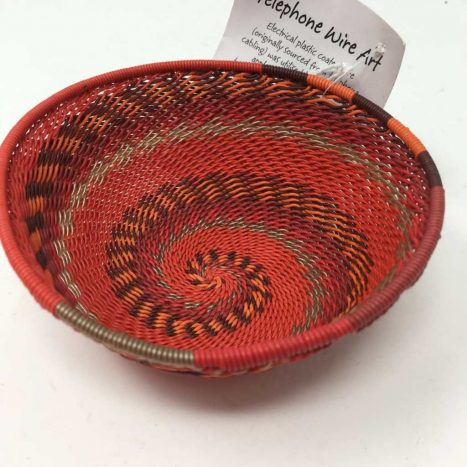 Telephone Wire Basket Rich Red 5