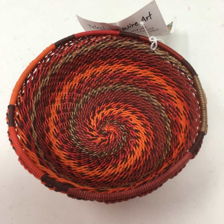 Telephone Wire Basket Rich Red 4