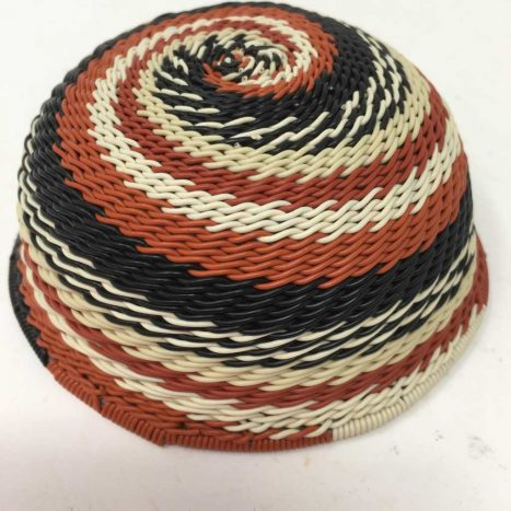 Telephone Wire Basket Terracotta, Black and Cream 2