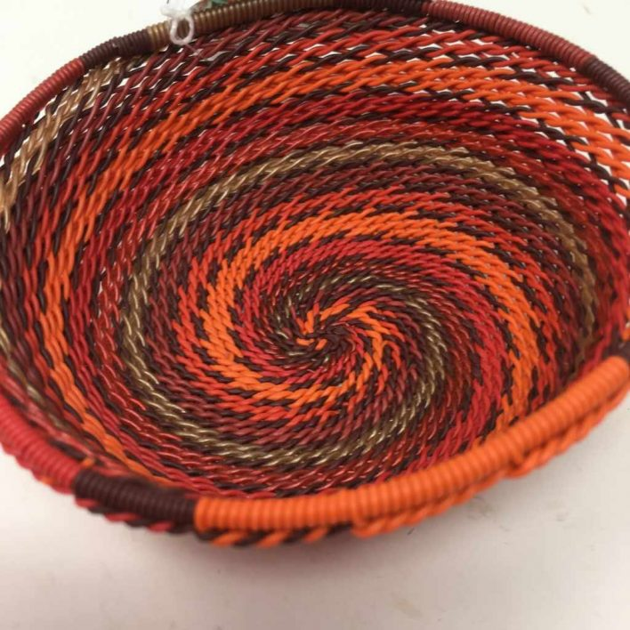 Telephone Wire Basket Tropical Sunset