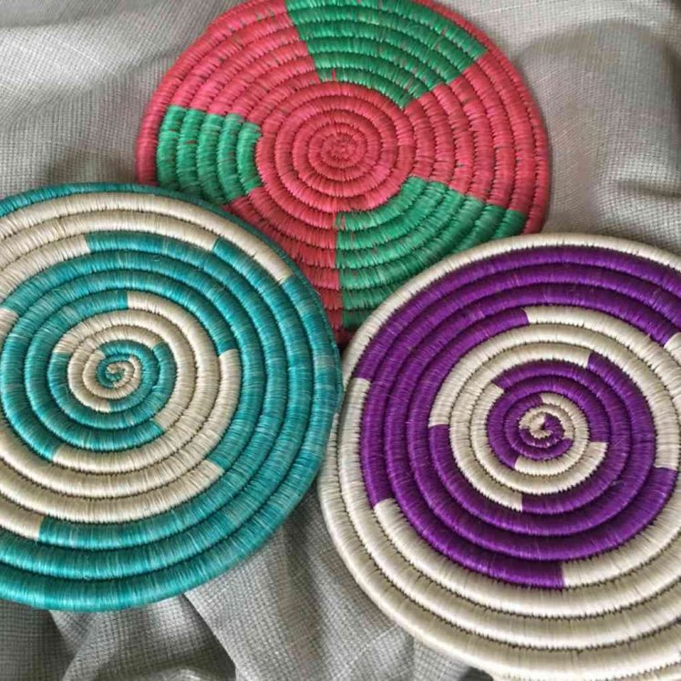 Rwandan Baskets – Trio of small mats