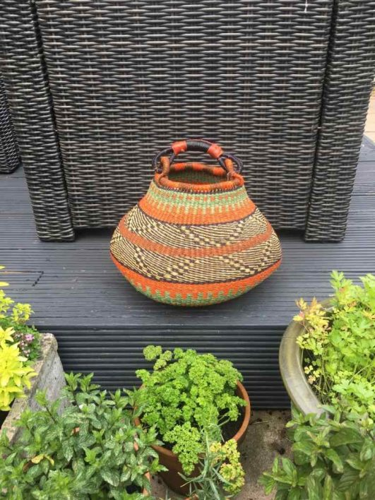 Medium Pot Bolga Basket -PBM5