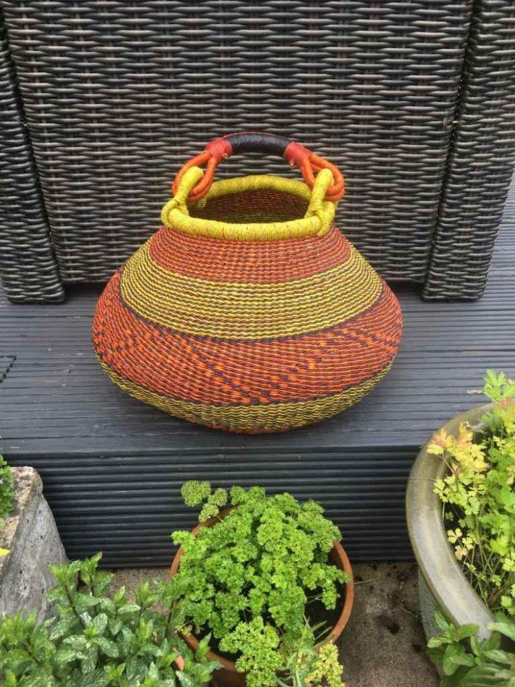Large Pot Bolga Basket -PBL2
