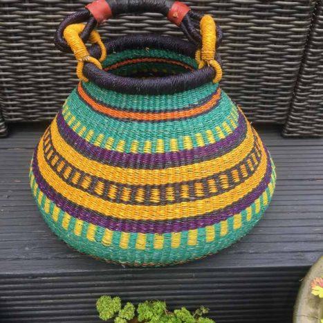 Large Pot Bolga Basket -PBL1