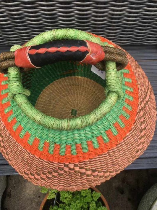Medium Pot Bolga Basket -PBM4