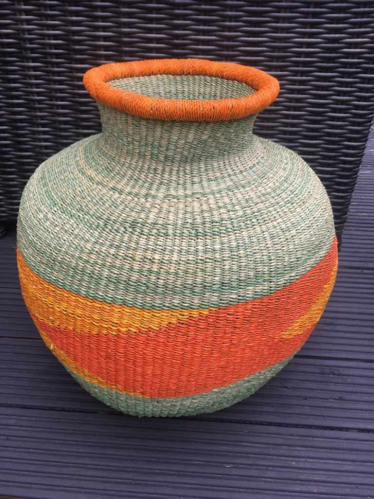 Large Jemima Basket Soft Green