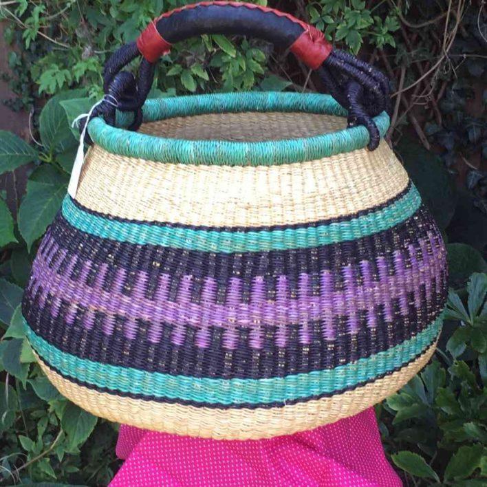Large Pot Bolga Basket -PBL3