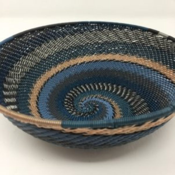 Telephone Wire Basket Moody Blue Collection