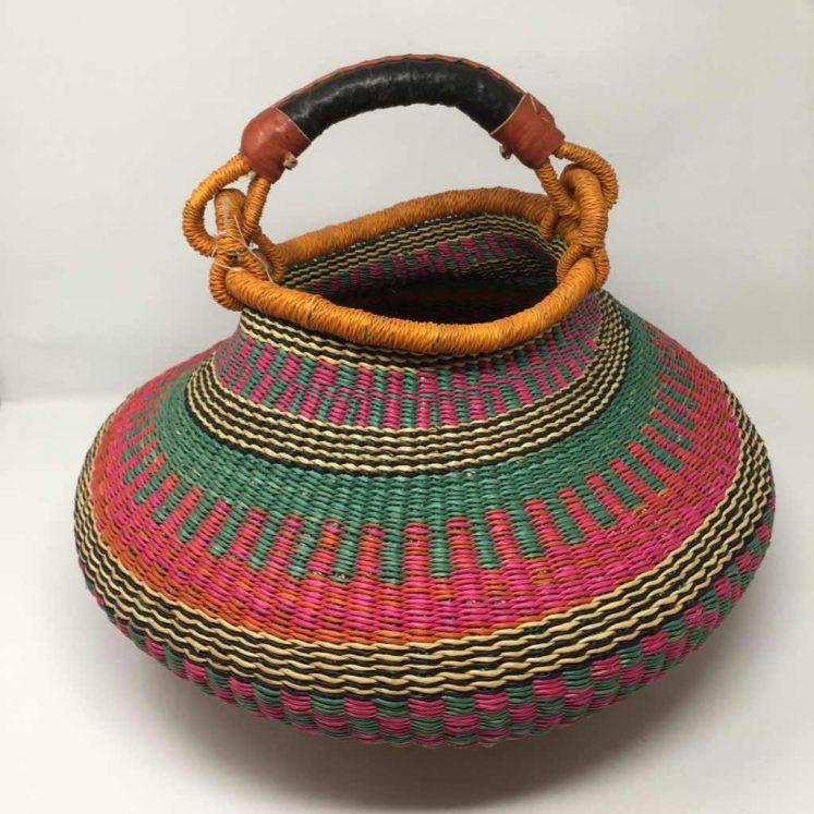 Large Pot Bolga Basket -PBL4
