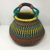 Large Pot Bolga Basket -PBM6
