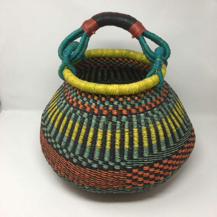 Large Pot Bolga Basket -PBM6