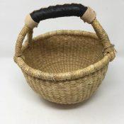 """Small Bolga Basket 8"""" Natural"""