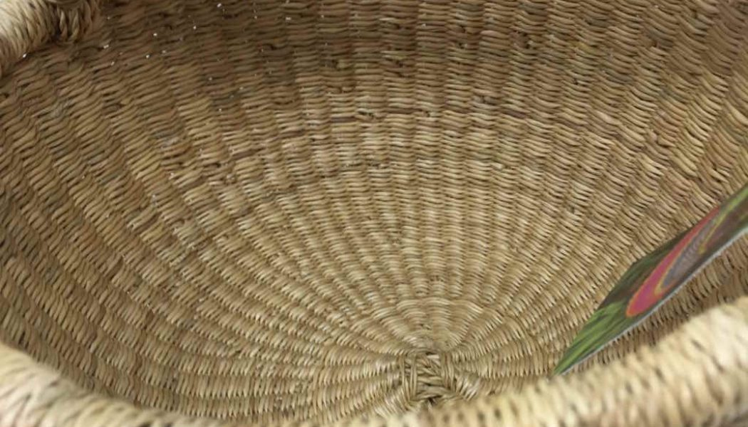 "Small Bolga Basket 8"" Natural"
