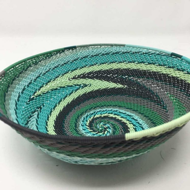 Telephone Wire Basket Winter Green 2