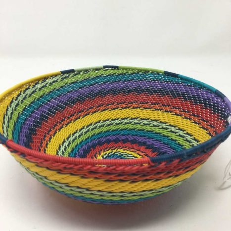 Telephone Wire Basket Rainbow
