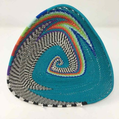 Telephone Wire Basket Turquoise