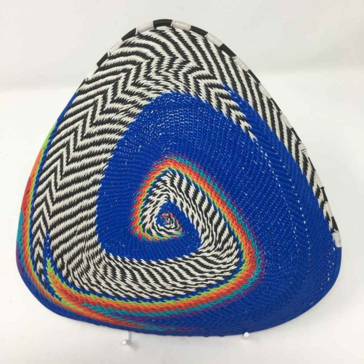 Telephone Wire Basket Blue