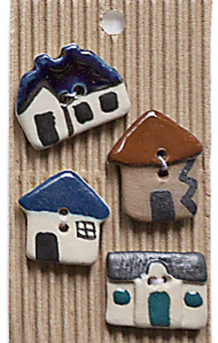 Ceramic Buttons Huts L211