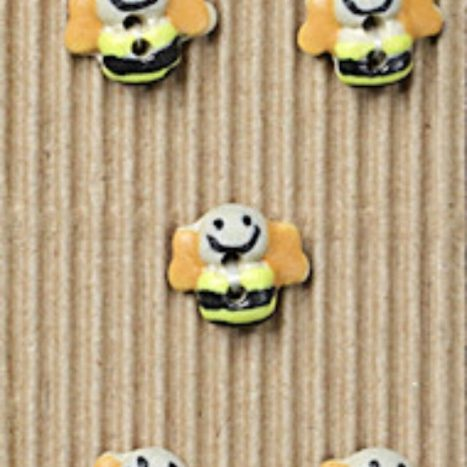 Ceramic Buttons Bumble Bees L15