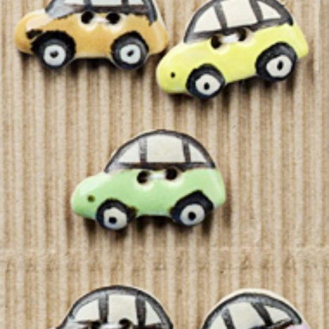 Ceramic Buttons Cars L249