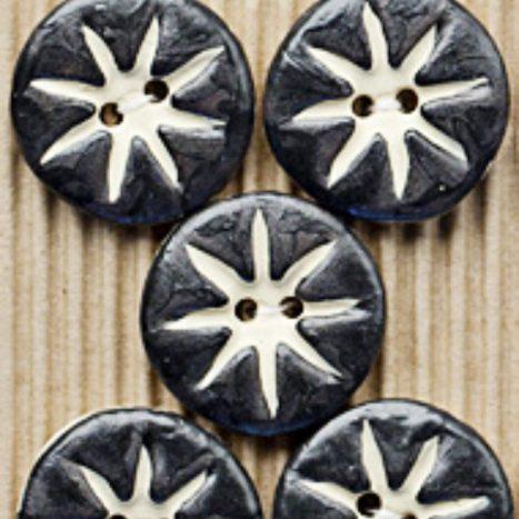 Ceramic Buttons Black Star L318