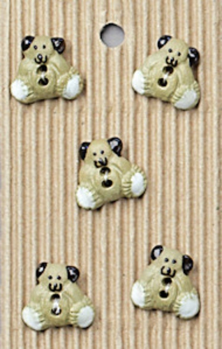 Ceramic Buttons Small Teddy Bears L425