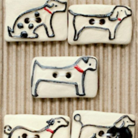Ceramic Buttons Assorted Dog Buttons L582