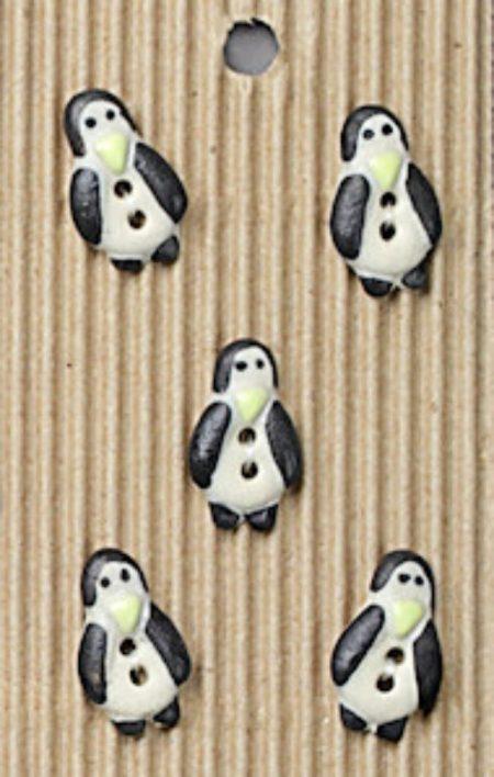 Ceramic Buttons Slim Penguins L80