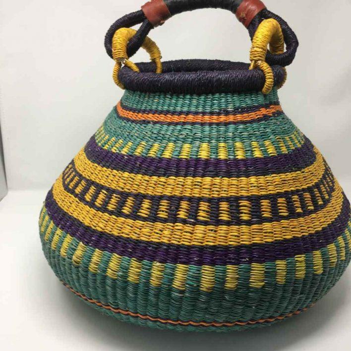Large Pot Bolga Basket -PBL5