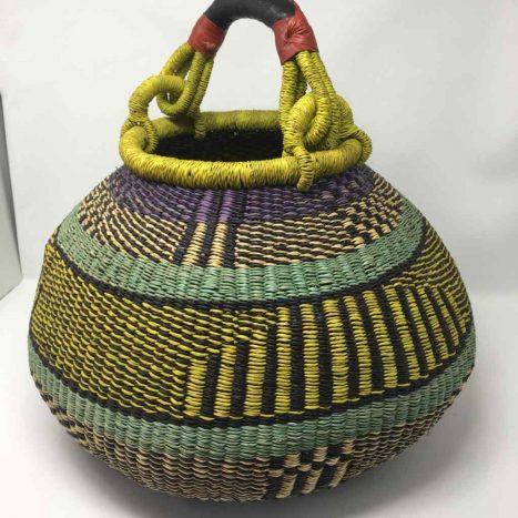 Large Pot Bolga Basket -PBL6