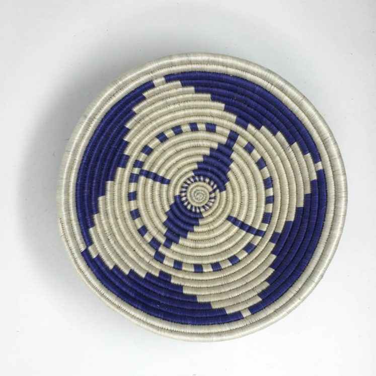 Rwandan Baskets – Bowl Summer Blue 2