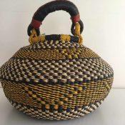 Large Pot Bolga Basket -PBL7