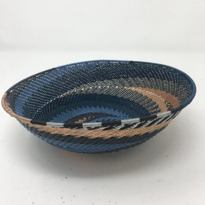 Telephone Wire Basket Moody Blue