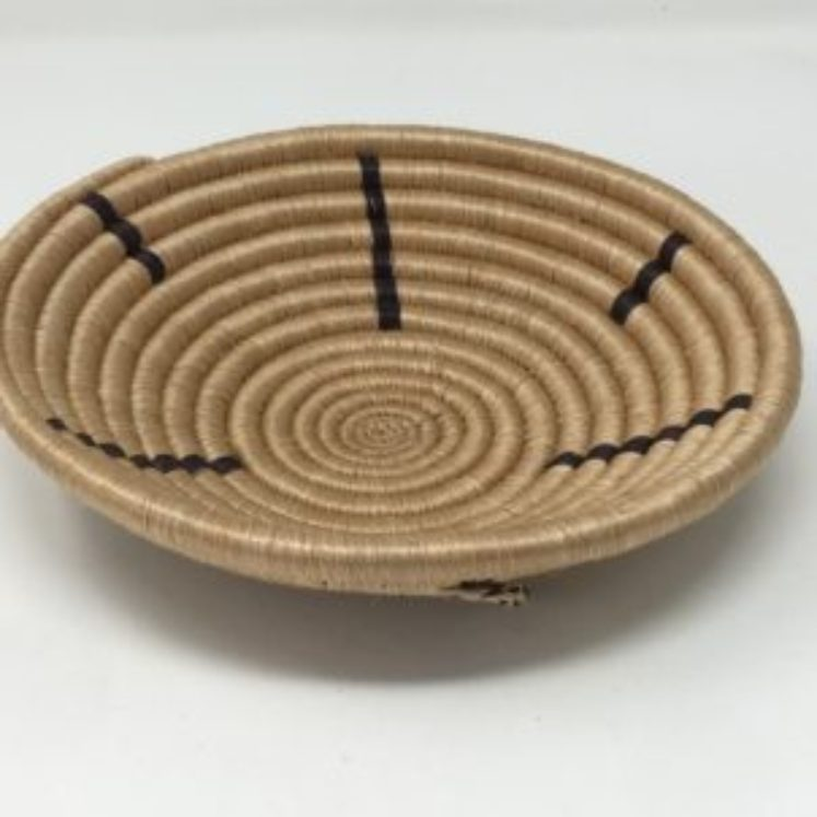 Rwandan Baskets – Bowl Simply Black and Cream