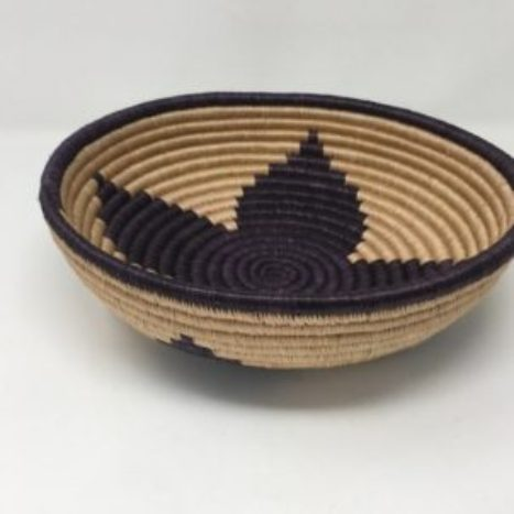 Rwandan Baskets – Bowl Black and Dark Cream