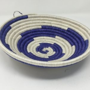 Rwandan Baskets – Bowl Summer Blue 3