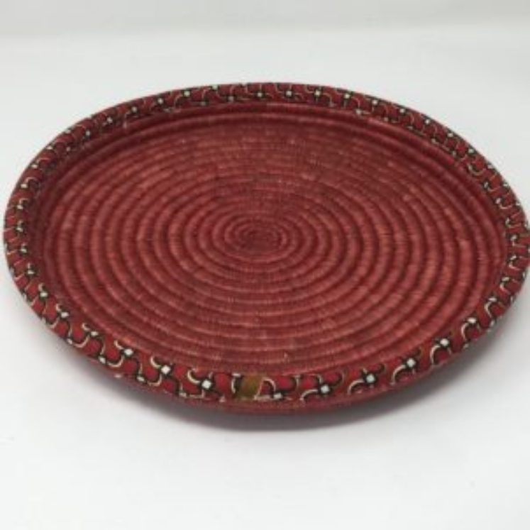 Rwandan Baskets – Red Tray
