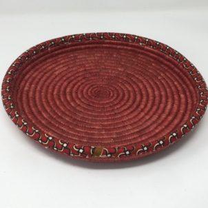 Rwandan Baskets – Red Tray