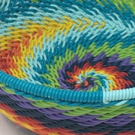 Telephone Wire Basket Rainbow 3