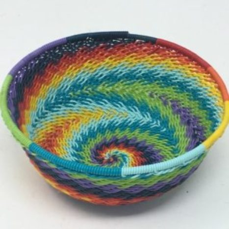 Telephone Wire Basket Rainbow 3