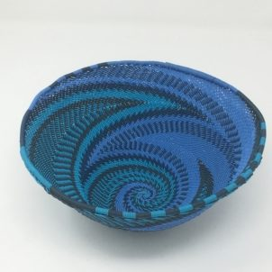 Telephone Wire Basket Blue Monday Small