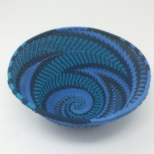 Telephone Wire Basket Blue Monday Large