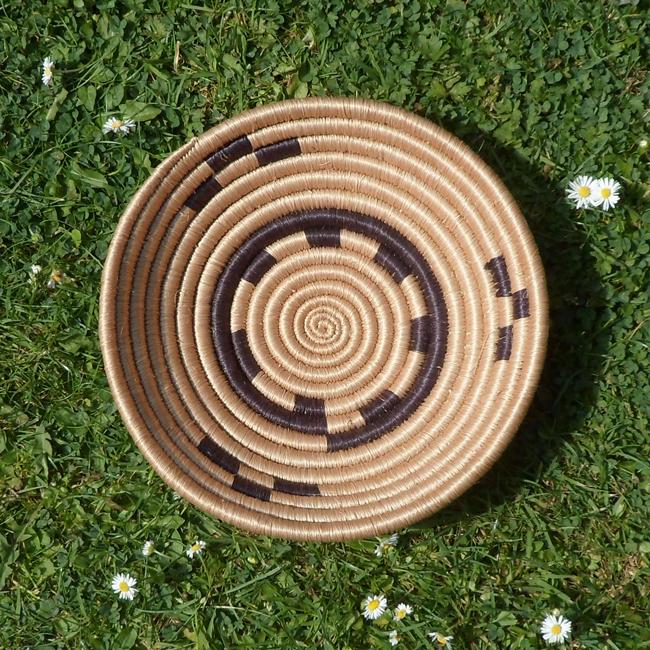 Black and Cream circles small bowl