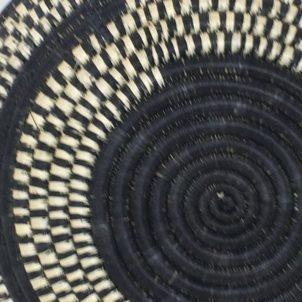 Rwandan Baskets – Bowl Dark Night