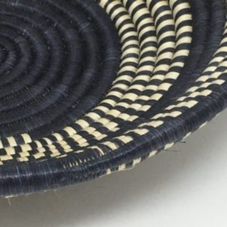 Rwandan Baskets – Bowl Dark Night