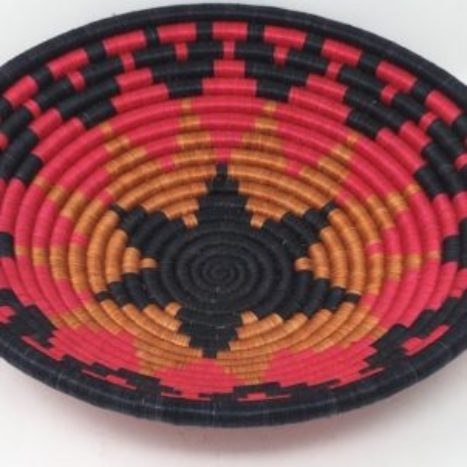 Rwandan Baskets – Bowl Black Star