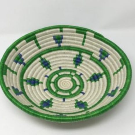 Rwandan Baskets – Bowl Emerald Jewel