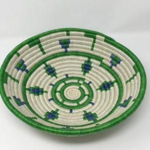 Rwandan Baskets – Bowl Emerald Jewel
