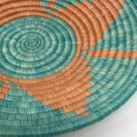 Rwandan Baskets – Bowl Sea and Sand